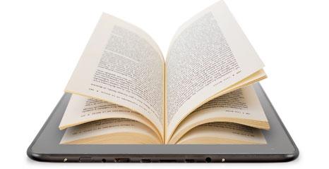 Grafik eines Tablets mit Buch